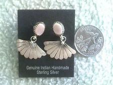 Fan Earrings w/Pink Mussel Shell Post Style (great price)