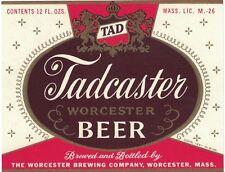 Tadcaster Worcester 12 oz Beer Label