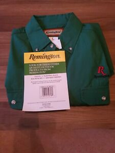 remington shooting button up long sleeve shirt large