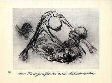 Künstlerin Käthe Kollwitz Der Tod greift in eine Kinderschar/Wiens hunger...1930