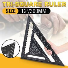 12'' Aluminum Alloy Speed Square Quick Roofing Rafter Triangle Ruler