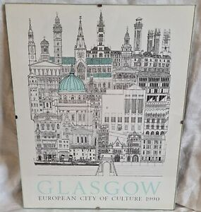 Glasgow European City Of Culture 1990 Framed Print