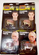 Vampire Vampiress Soft Comfortable Teeth NIP Lot 4