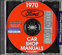1970 Ford Shop Manual CD Fairlane Torino Ranchero Mustang Falcon Maverick Repair