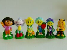 Fifi And The Flowertots & The Dora the Explorer Mixed Toy Figures Bundle