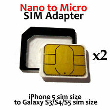 NANO to MICRO SIM Card Adapter Converter Holder for iPhone