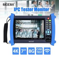 "SEESII 4K 7"" IPC Camera Monitor Tester CVBS Test IP Discovery PTZ Control WIFI"