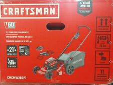 "New Craftsman V60 Cordless 21"" 3-In-1 Lawn Mower Kit Cmcmw260P1"