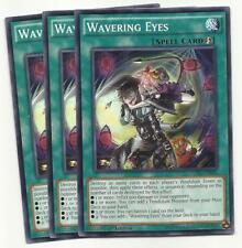 YUGIOH 3x Wavering Eyes - CORE-EN066 1ST EDITION PLAYSET!  NM