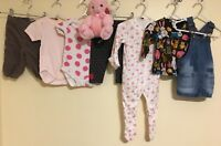 Baby Girls Bundle Of Clothing Age 3-6 Months Mothercare H&M Next <D1088