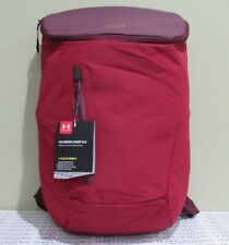 UNDER ARMOUR Union Lifestyle Backpack Bag NWT Dark Maroon/Cardinal 1316575/600