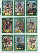 North Sydney Bears 1978 Rugby League (NRL) Trading Cards