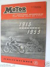 MO5302-JUBILEUMNUMMER 1913-1953,OLD SCOOTERS,TEKENING JAN VERHOEK COVER,ZUNDAPP