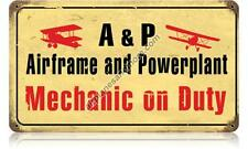 Airframe and Powerplant Metal Sign - Hand Made in the USA with American Steel