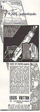 PUBLICITE LOUIS VUITTON SAC DE GOLF PORTE HABITS DE 1927 FRENCH AD PUB ART DECO