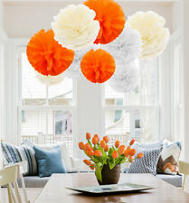 9 PCs New Mixed Tissue Paper Pompoms Fluffy Flower Ball Wedding Party Pom Poms