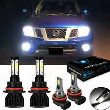 For Nissan Frontier 2005 2018 4pc 6000k Led Headlight Hi Low Fog Light Bulbs Fits 2011 Nissan Frontier