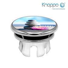 KNOPPO Waschbecken Überlaufblende / Abdeckung - Mirror Energy Stone Motiv chrom