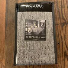J Queen New York Matteo Gray Standard Euro Sham NEW 26 x 26 Quilted Pillowcase