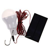 Solar Power Panel LED Lamp Outdoor Camping Fishing Lantern Tent Light White Bulb