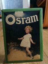 Vintage Advertising Display Sign Shop osram on tin the sunshine of the home