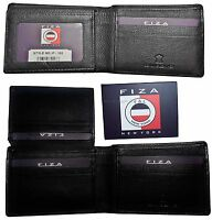 Men's Leather Bifold wallet, 2 Billfold flip up ID 9 card BR New Lot of 2 in Box