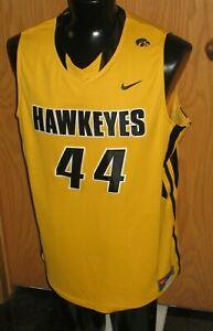 University of Iowa Hawkeyes Basketball Nike game used Gold Jersey XXL #44