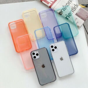 1PC Phone Case For iPhone 12Pro Max 11 X 7 Ultra-thin 1.5mm Soft TPU Case Cover