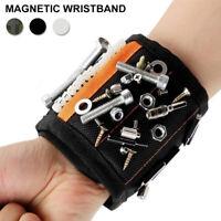Magnétique Bracelet Outil Ceinture Travail Plateau Poignet Tenant Dish Nails BR