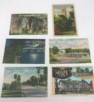 Vintage Linen Postcards Florida Smyrna Beach Georgia South Carolina  Lot of 6