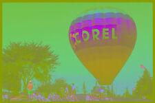 528065 HOT AIR BALLOON CON SPETTATORI A4 FOTO STAMPA