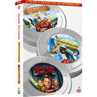 """COF 5 DVD NF """"LES REBELLES DE LA FORET / LES ROIS DE LA GLISSE / MONSTER HOUSE"""""""