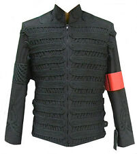 Classyak MJ Military Style Jacket, Black Thread Design, High Quality, Xs-5xl