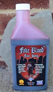 Bottle of Fake Blood Pint Theatrical Stage Costume Halloween Vampire