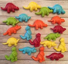 20 bright funky dinosaur,edible fondant cake/cupcake toppers