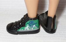 FLAVAS ~ SHOES ~ TRE BLACK HI-TOP GREEN DRAGON SNEAKERS FITS FASHINISTA KEN