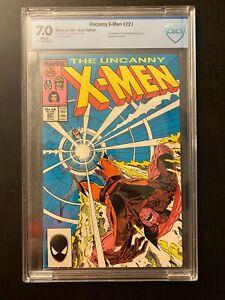 Uncanny X-Men 221 - 1st Appearance Mr. Sinister - CBCS 7.0 (Not CGC) - WHITE Pgs