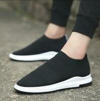 Men's Sports Casual Sneakers Knited Running Fashion Breathable Loafer Shoes