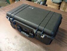 Pelican 1510 Hard Case Black w/ Computer Lid Organizer + Pouch & Luggage Insert