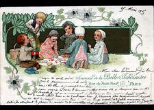 ENFANTS / JEU de DINETTE / ART NOUVEAU illustrée BELLE JARDINIERE avant 1904