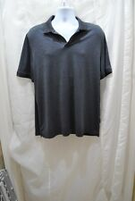 Men's Shirt by Perry Ellis size L 100% Polyester men's clothing Dark Gray