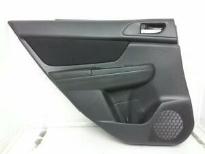 13 14 Subaru XV Crosstrek Rear Left Interior Door Trim Liner Panel Black OEM