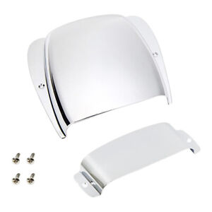 Jazz Bass Guitar Bridge & Pickup Cover Protector Silver Plated