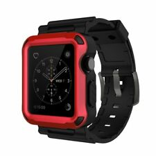 Simpeak Rugged Protective Case w/ Soft TPU Band for 42mm Apple Watch Series3 2 1