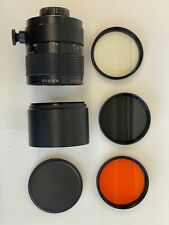 Russian made 500mm f/8 M42 Mount Mirror Lens + Filters