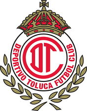Deportivo Toluca Vinyl DieCut Decal Logo Soccer Liga MX Mexico 4 Stickers