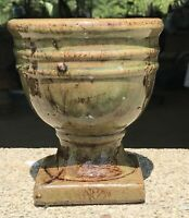 Bosley Potteries Heavy Glazed Goblet Shaped Planter 5 1/4 X 6""