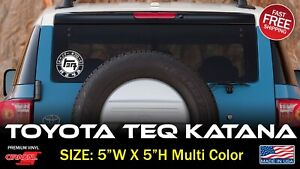 KATANA Vintage Decal Sticker Car OFF-ROAD FITS on TOYOTA