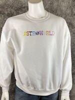 Travis Scott ASTROWORLD Sweatshirt White Tour Concert Merch XL