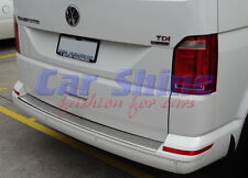 VW T6 Vans BRUSHED STEEL REAR BUMPER PROTECTION SILL - SINGLE DOOR